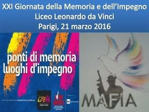 XXI Giornata della Memoria e dell'Impegno Liceo Leonardo da Vi